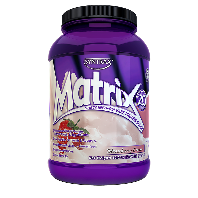 Syntrax Matrix Protein Blend 907g (2 lbs) Strawberry Cream